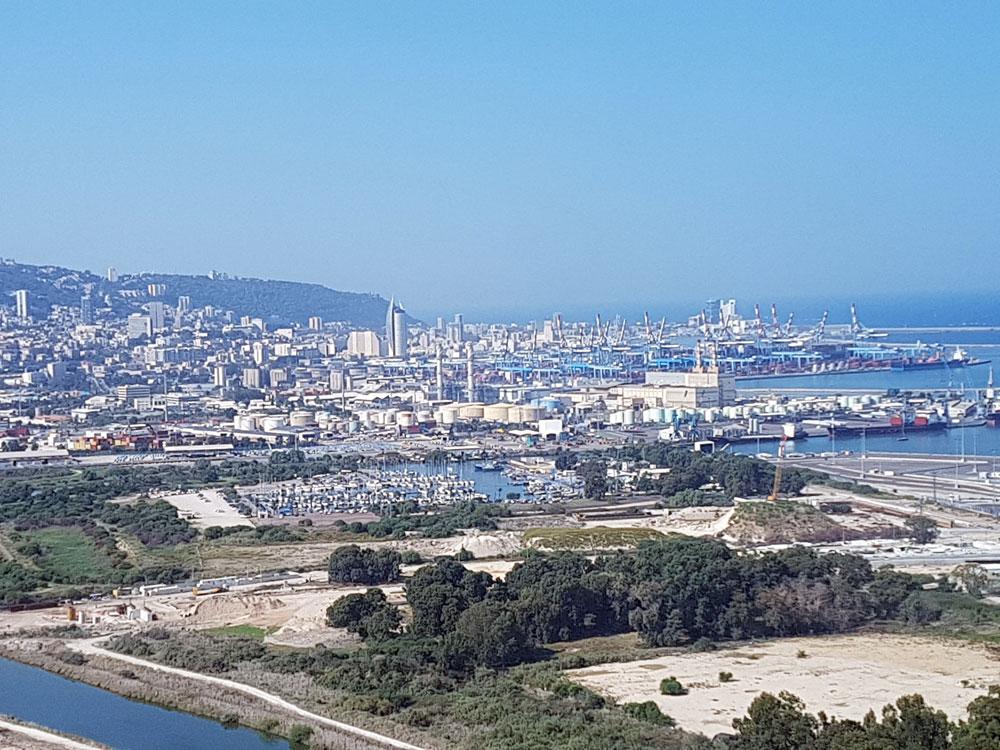 הקישון, מעגן הדיג, נמל חיפה, הכרמל והעיר התחתית