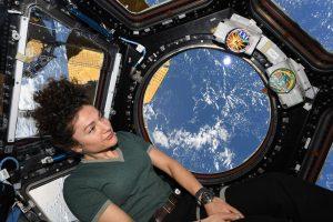 ג'סיקה מאיר, בתחנת החלל, במבט אל כדור הארץ, 2020. צילום: דרו מורגן, חבר צוות המשימה, באדיבות נאסא